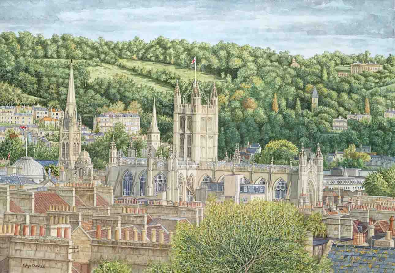 Bath Abbey Viewed from The Circus